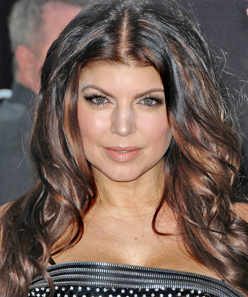 Fergie Long Wavy Casual   Hairstyle