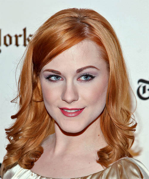 Evan Rachel Wood Long Wavy Formal   Hairstyle