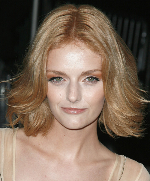 Lydia Hearst Medium Straight Casual   Hairstyle