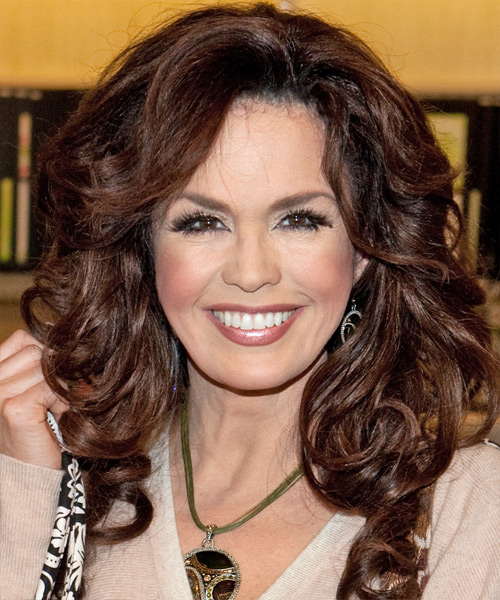 Marie Osmond Long Wavy Formal   Hairstyle