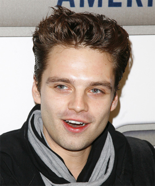 Sebastian Stan Short Straight Casual    Hairstyle