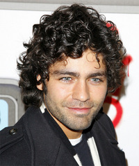 Adrian Grenier Medium Curly Casual    Hairstyle