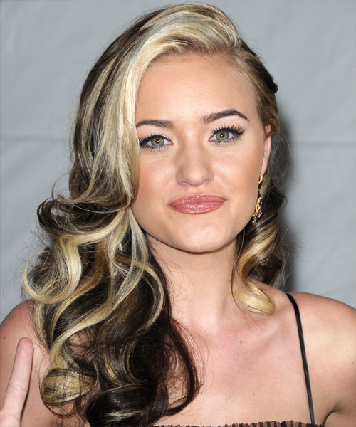 Amanda Michalka Long Wavy Formal   Hairstyle