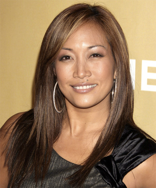 Carrie-Ann Inaba Long Straight Casual   Hairstyle