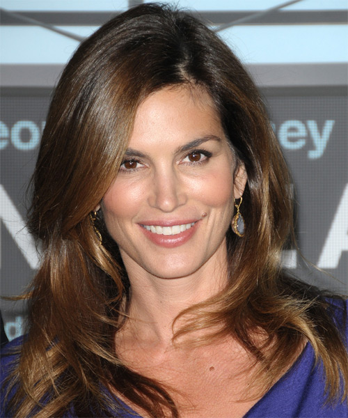 Cindy Crawford Long Straight Casual Hairstyle