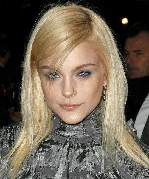 Jessica Stam Long Straight Casual   Hairstyle