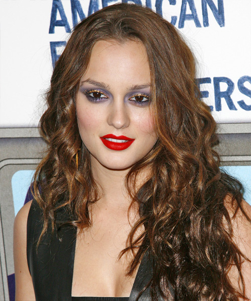 Leighton Meester Long Wavy Casual   Hairstyle