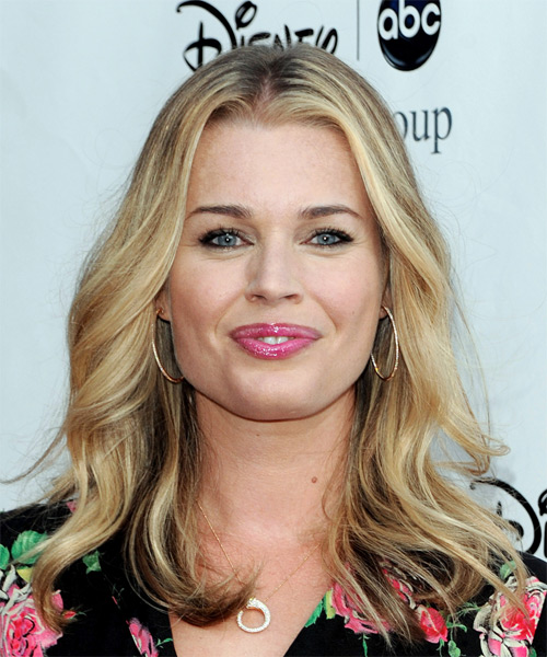 Rebecca Romijn Long Wavy Casual   Hairstyle
