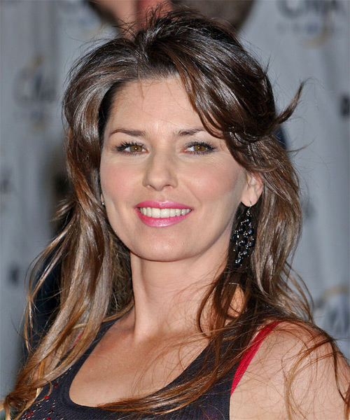 Shania Twain Long Straight Casual   Hairstyle