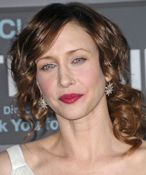 Vera Farmiga  Long Curly Formal   Updo Hairstyle