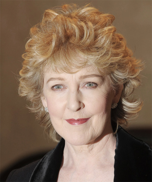 Patricia Hodge Short Curly Formal   Hairstyle