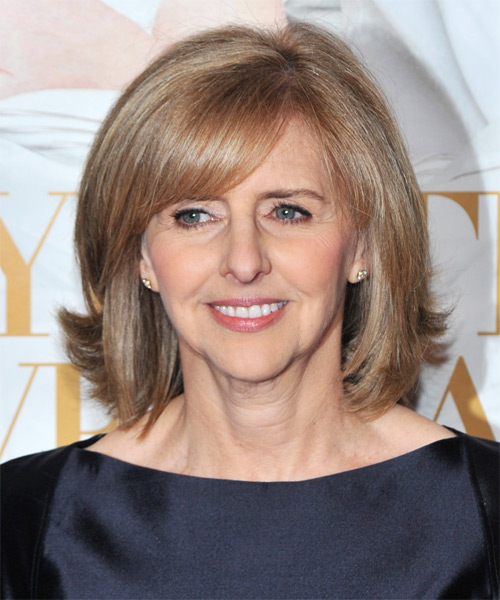 Nancy Meyers Medium Straight Formal   Hairstyle