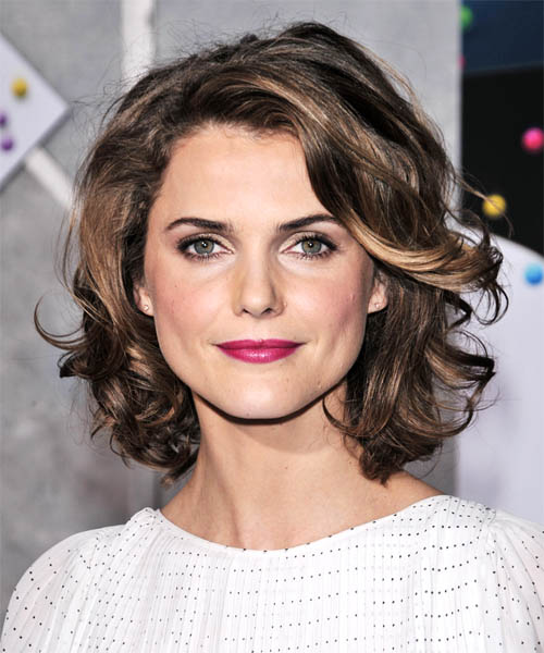 Keri Russell Medium Wavy Casual   Hairstyle