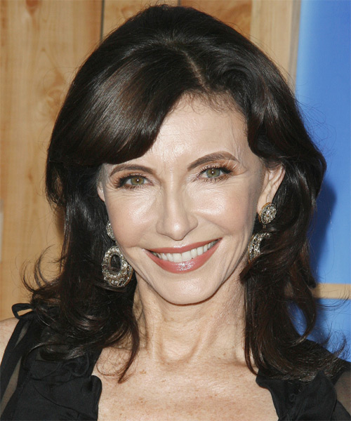 Mary Steenburgen Medium Wavy Formal   Hairstyle