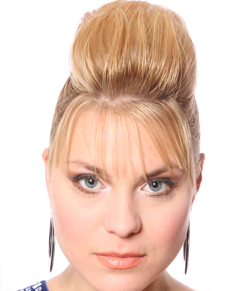 Half Up Long Straight Casual  Half Up Hairstyle   - Medium Blonde (Honey)