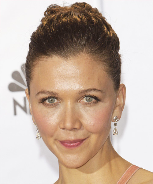 Maggie Gyllenhaal Updo Long Curly Formal  Updo Hairstyle