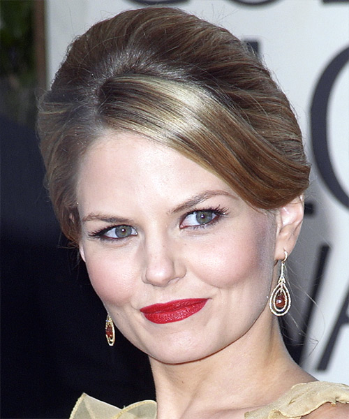 Jennifer Morrison Updo Long Straight Formal  Updo Hairstyle