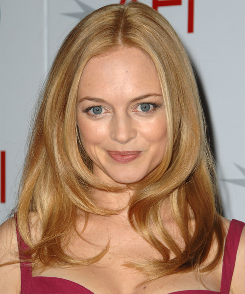 Heather Graham Long Straight Formal    Hairstyle   - Honey Hair Color