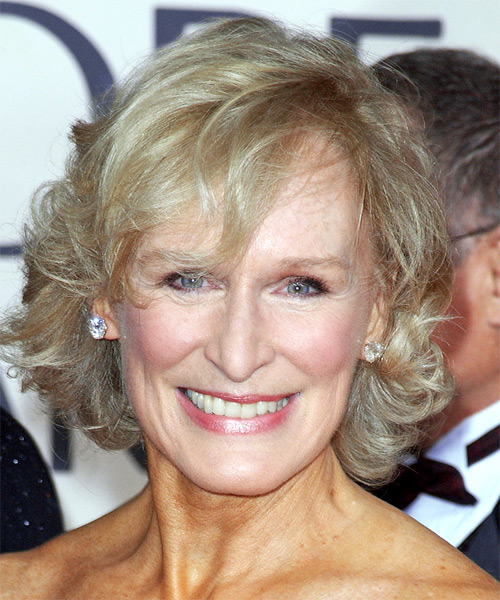 Glenn Close Short Wavy Formal    Hairstyle