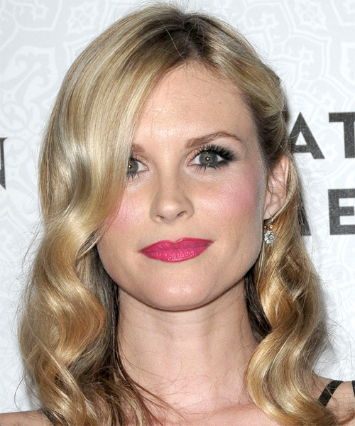 Bonnie Somerville Long Wavy Formal   Hairstyle