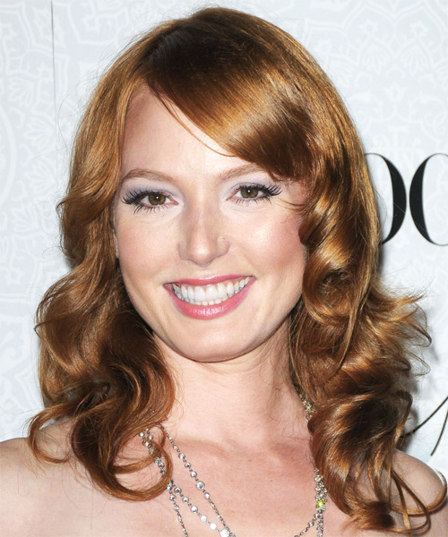 Alicia Witt Long Wavy Formal    Hairstyle