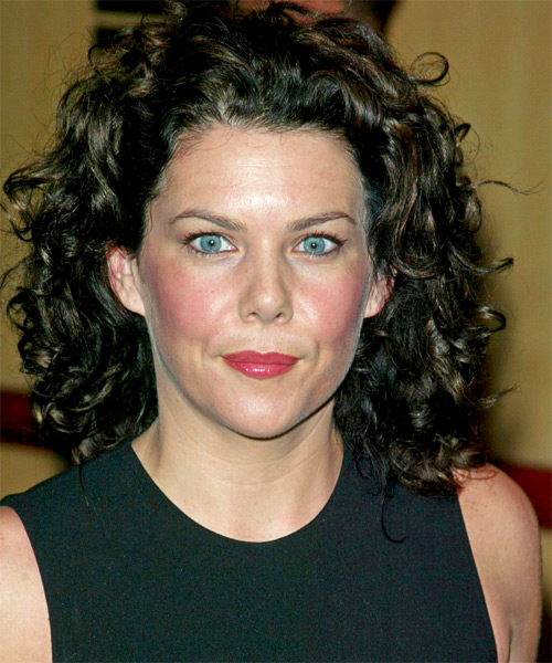 Lauren Graham  Medium Curly Casual    Hairstyle