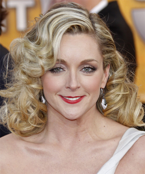 Jane Krakowski Long Curly Formal   Hairstyle