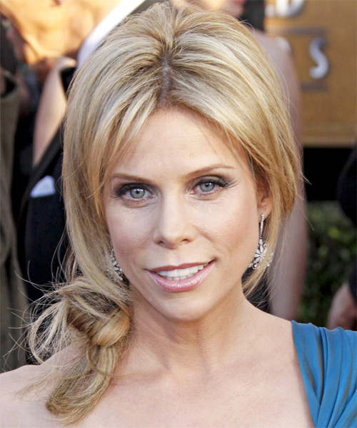 Cheryl Hines  Long Straight Casual   Updo Hairstyle