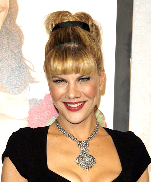 Kristen Johnston  Long Curly Formal   Updo Hairstyle