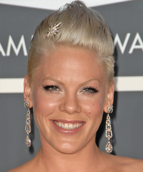 Pink Short Straight Alternative   Hairstyle