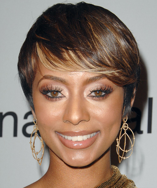 Keri Hilson Short Straight Golden Brown Hairstyle - Hair Color suitable for Warm Skin Tones