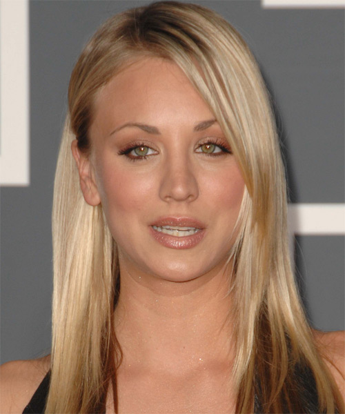 Kaley Cuoco Long Straight Casual    Hairstyle   -  Golden Blonde Hair Color
