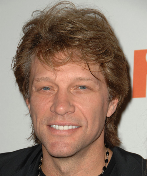 Jon Bon Jovi Medium Straight Casual   Hairstyle
