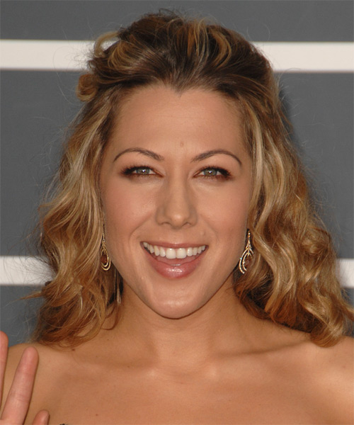 Colbie Caillat Half Up Long Curly Casual  Half Up Hairstyle