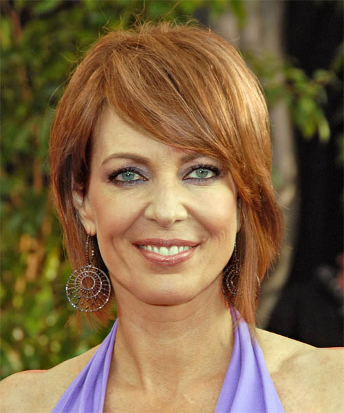 Allison Janney Medium Straight Casual   Hairstyle