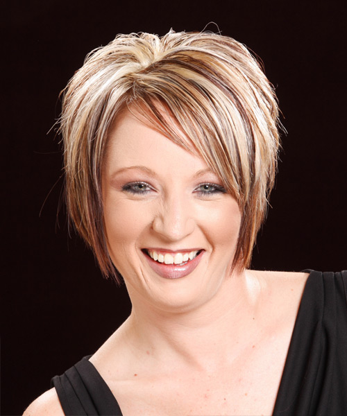 Short Straight Casual   Hairstyle   - Dark Blonde (Copper)