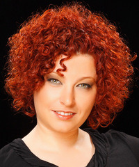 Short Curly Casual    Hairstyle   -  Red Hair Color