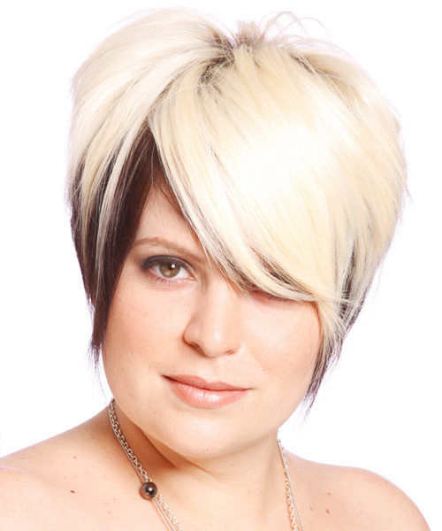 Short Straight Alternative    Hairstyle   - Light Chocolate Blonde Hair Color