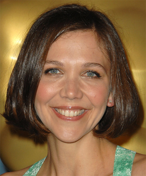 Maggie Gyllenhaal Medium Straight Casual    Hairstyle