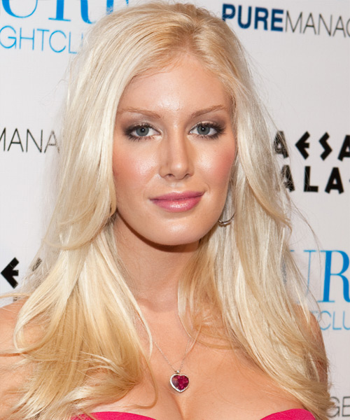 Heidi Montag Long Straight Casual   Hairstyle