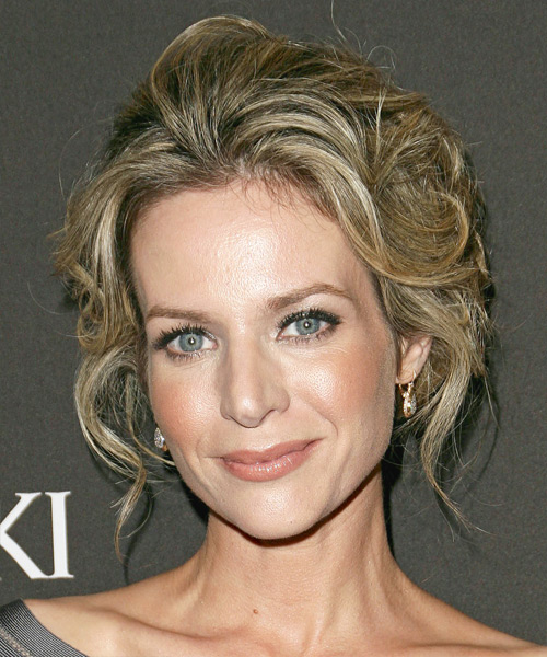 Jessalyn Gilsig Updo Long Curly Formal  Updo Hairstyle