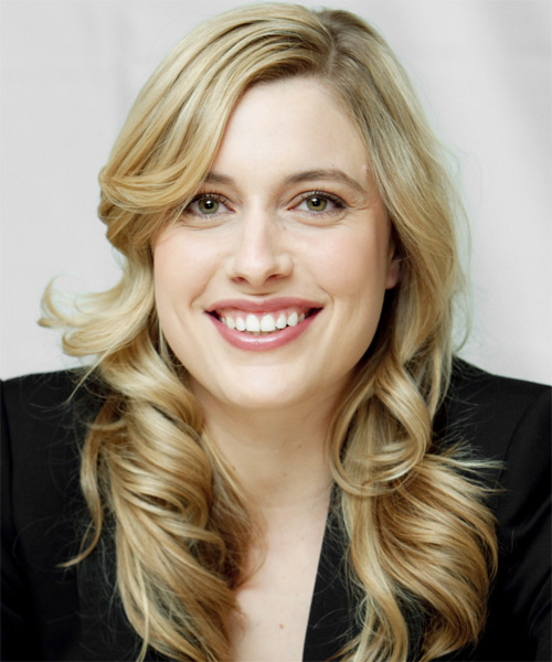 Greta Gerwig Long Wavy Formal   Hairstyle