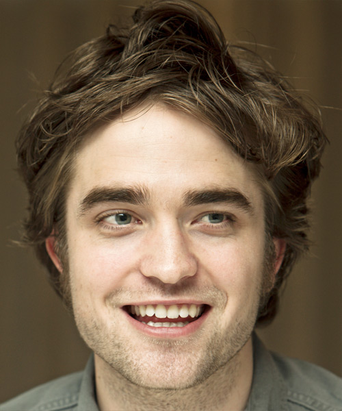 Robert Pattinson Medium Straight Casual   Hairstyle