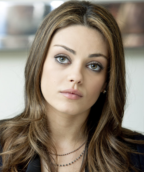 Mila Kunis Long Straight Casual    Hairstyle
