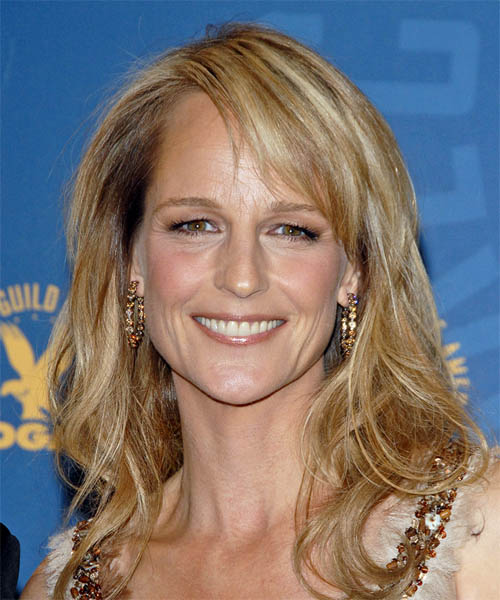 Helen Hunt Long Wavy Casual   Hairstyle   - Medium Blonde
