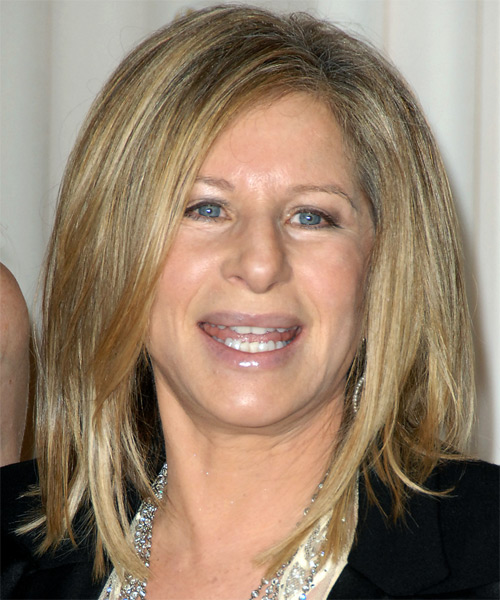 Barbra Streisand Medium Straight Casual   Hairstyle