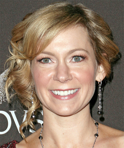Carrie Preston Updo Medium Curly Formal  Updo Hairstyle