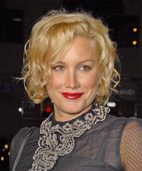 Alice Evans Medium Wavy Formal Bob  Hairstyle
