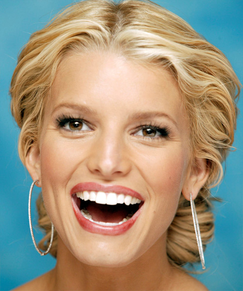 Jessica Simpson Updo Long Curly Formal Wedding Updo Hairstyle