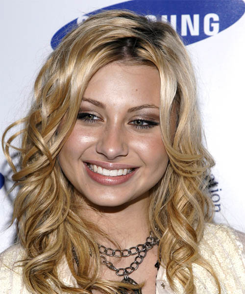 Alyson Michalka Long Wavy Formal   Hairstyle